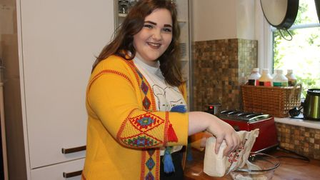 15-year-old Ellie Glasgow cooking up snacks for an art auction she is hosting raise cash towards a S