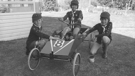 Cromer cubs with a go-kart in 1975. Picture: Archant Library