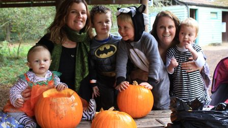 Pumpkin carving fun at a Halloween trail held at Holt Country Park. Picture: KAREN BETHELL