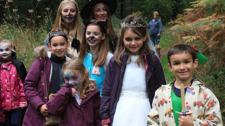 On the hunt for witch's brew ingredients at a Halloween trail held at Holt Country Park. Picture: KA
