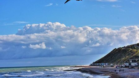 Waves crashing on Cromer beach on a fresh autumn day. Picture: Tina Partridge