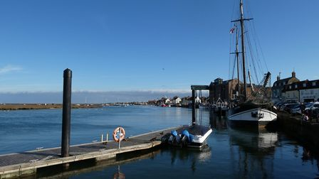 The Albatross which is moored at Wells-Next-The-Sea Quay at a high tide. Picture: Martin Sizeland