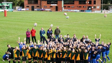 Last week's rugby day at North Walsham was enjoyed by youngsters and adults alike. Picture: Richard