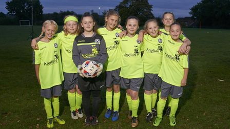 North Walsham Youth Football Club girls U12s team in their new kit. Picture: SUBMITTED