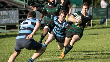 North Walsham Raiders on the attack during their win over Norwich Medics on Saturday. Picture: Hywel