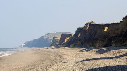 Weybourne cliffs on a sunny September day. Picture: Paul Reynolds