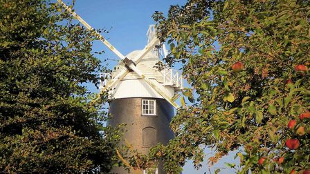 Stow mill in Paston, the sails have been taken down and will be replaced by new ones in the spring.