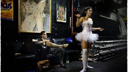 And Frankenstein Looks On, one of the images of Hippodrome Circus performers featured in an exhibiti