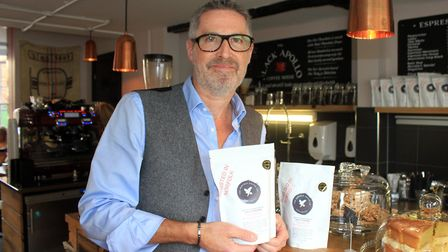 Norfolk Coffee Company owner Steve Perrett, who has created a special espresso blend in memory of hi
