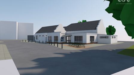 An external view of Cromer Hospital's new Medical and Chemotherapy wing. Picture: lsi designs for th