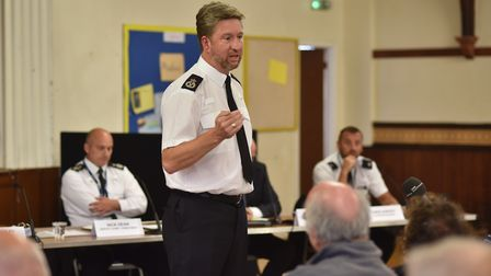 Chief Constable Simon Bailey addressed residents and business owners in Cromer at a special meeting