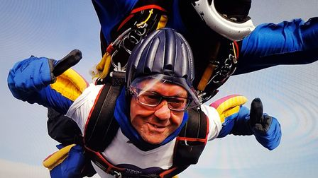 Peter Barrett from Bacton completed a skydive in aid of the Royal Brompton and Harefield Hospitals C