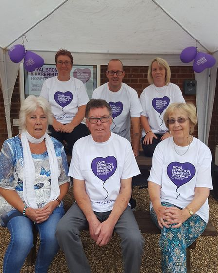 Peter Barrett, from Bacton, and family fundraising for the Royal Brompton and Harefield Hospitals Ch