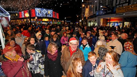 Sheringham Christmas lights switch on.Picture: ANTONY KELLY