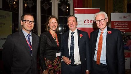Adrian Sell (Basic Needs), Kirsty Smith (CBM), Lord Blunkett and Normal Lamb MP