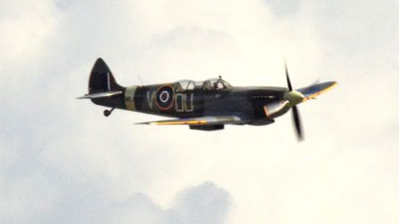 The Grace Spitfire in flight. Picture: MICK HOWES