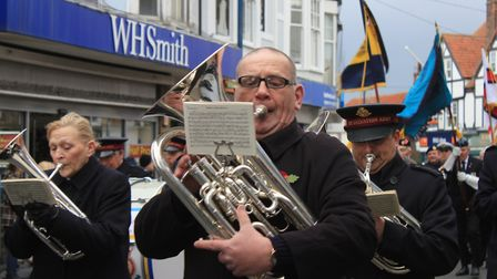 Sheringham Salvation Army Band on parade. Photo: KAREN BETHELL
