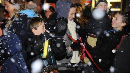 North Walsham Christmas Lights switch on. Picture: MARK BULLIMORE