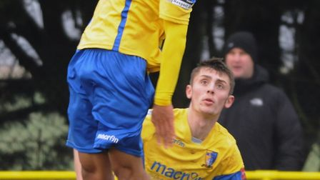 Norwich United were too strong for Sheringham in the Norfolk Senior Cup. Picture: DENISE BRADLEY