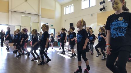 Broadland School of Dance tapathon. Photo: Katy Carroll