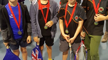 The Cromer Tennis Club Under-8 team who performed well at a recent county event at Easton Tennis Cen