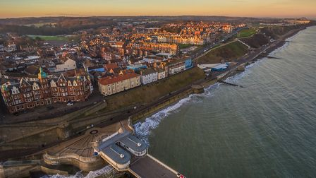 An aerial photograph of Cromer pier, town and seafront. Picture: Graeme Taplin