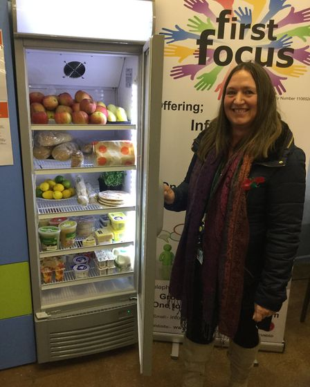North Norfolk district councillor Annie Claussen-Reynolds at the opening of the new community fridge