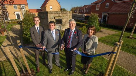 Pictured cutting the ribbon are (l-r) Chris Webber (DWH graduate), Jason Colmer (sales director DWH)