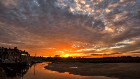 The sunset over Blakeney Quay. Picture: Bill Pound