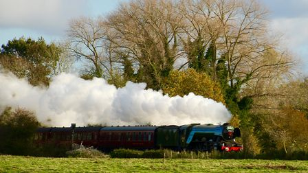 The Flying Scotsman passing through Marston Marshes. Picture: Lydia Taylor