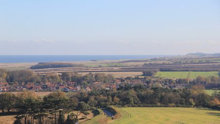 A view along the coast from the church tower at Blakeney. Picture: Simon Bamber
