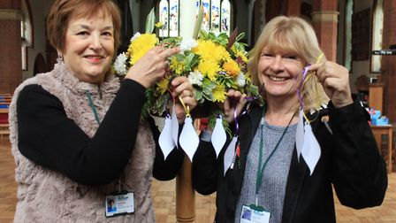 Macmillan Cancer Support North Norfolk fundraising team members Judith Miller and Diane Evans, who a