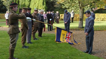 Remembrance service at North Walsham. Photo: COLIN FINCH