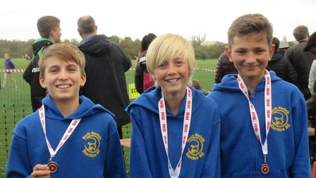 Innes O''Malley, Brad Keay and Henry Jonas take gold at the South of England Cross-Country Relay Cha