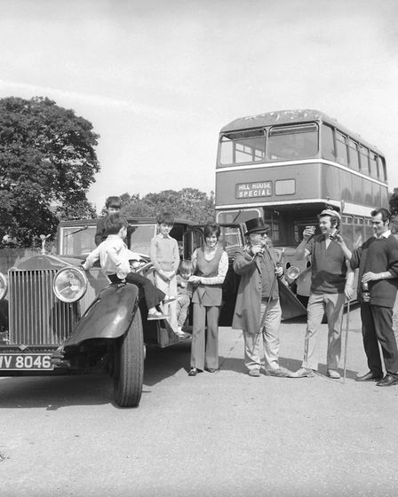 Cromer to Naples by bus - Sir Christopher White pic taken 28th july 1972 35763-2
