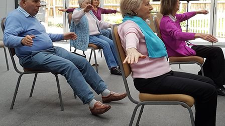 'Mmindercise' exercise and social sessions run by Sheringham Dementia Friendly Community group. Phot