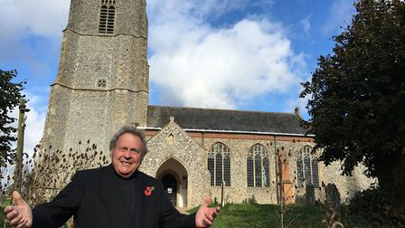Rev Canon Paul Thomas, of St Mary's Church, Erpingham. The church has just had its roof repaired aft