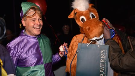 Pantomime horse race competitors at last year's Holt Christmas lights switch on. Photo: SONYA DUNCAN