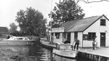 Stalham Yachting Station, all types of craft for hire, July 1966. Picture: Archant library