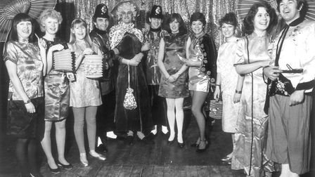 Stalham players, possibly the cast from Aladdin, January 1983. Picture: Archant library