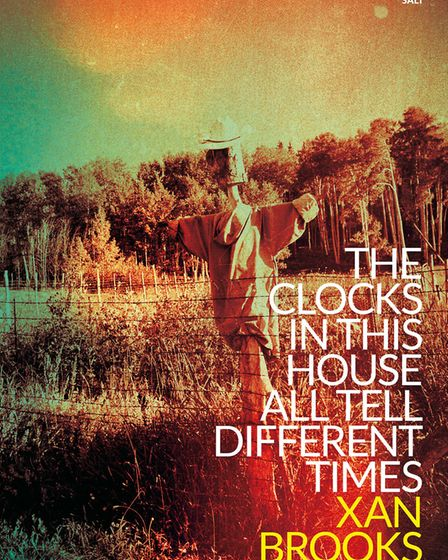 The front cover of Xan Brooks debut novel, The Clocks in This House All Tell Different Times, publis