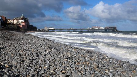 Cromer beach on an autumn day. Picture: Mick Webb