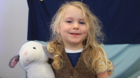 Three-year-old Sophie as the innkeeper. Photo: KAREN BETHELL