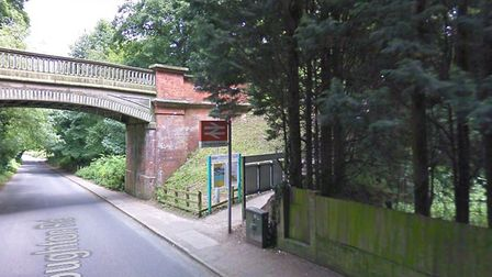 A woman died after being struck by a train near Cromer. Emergency services were called to Roughton R