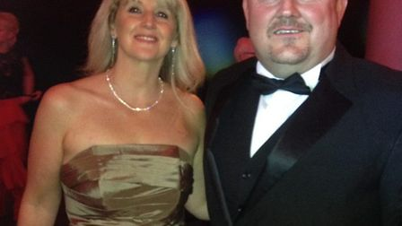 Jane Keil, after her weight loss, with her husband. Picture: Courtesy Jane Keil