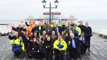 At the launch of Enjoy Cromer More, on the town's famous pier. Picture: Ian Burt