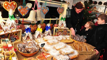 The festive food fair has started at Holkham Hall. Picture: Angela Sharpe