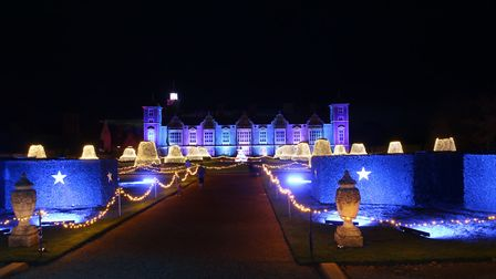 Blickling House Gardens are looking wonderful all lit up for Christmas. Photo: Martin Sizeland