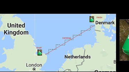 Map showing the distance and journey the buoy travelled and the buoy itself. Pictures: Charlie Ward