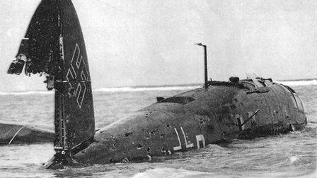 Tides uncover Second World War aircraft. The Heinkel on June 19, 1940 after landing at Blakeney Poin